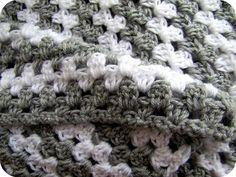 grey & white granny stripe.