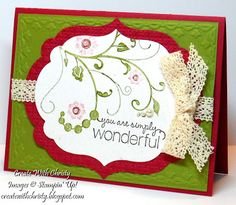 Stampin Up! Flowering Flourishes Card, Christy Fulk, SU! Demo