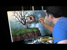 Nice<3 Head In The Clouds - short time lapse painting by Tim Gagnon