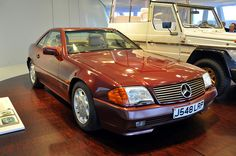 500 SL (R 129) 1991. Princess Diana's car. Mercedes-Benz Museum Stuttgart. Photo Jorge Alejandro Medellín. 2011.