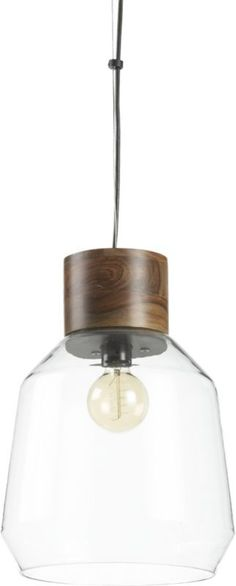 loft pendant lamp. CB2- Great for kitchen and office areas. really nice jar like lamp. $149
