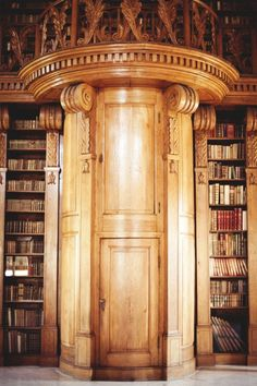 LIBRARY – home office and den. Library Portal, Zala, Hungary photo via debbie. Beautiful Library, Dream Library, Library Plan, Future Library, Portal, Chateau Hotel, Cool Doors, Home Libraries, Book Nooks