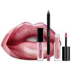 HUDA BEAUTY Contour & Strobe Lip Set