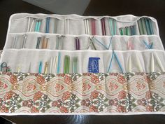 How to sew a roll/case for all your knitting needles: both straight needles and circular needles all in one roll!