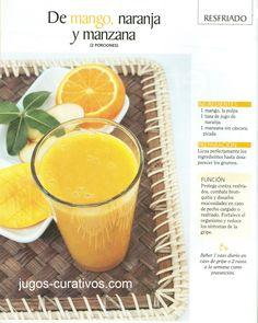 Jugos y remedios para el resfriado. Healthy Juices, Healthy Smoothies, Healthy Drinks, Dental, Natural Medicine, Cantaloupe, Health Tips, Food And Drink, Fruit