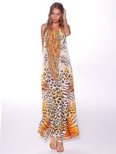 Honey & Beau 'Mauritius' Maxi Dress in Animal Print – Lotus Boutique