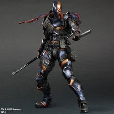 Deathstroke Figure Square Enix Play Arts Kai Variant Deadpool PVC DC Action Figure Terminator Slade Joseph Wilson 26cm Toys