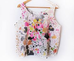 Abstract Hand Painted Top - One of a Kind