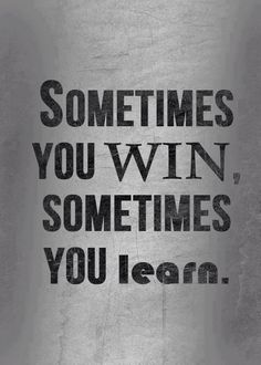 It's all about LEARNING!