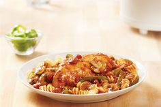 Start our Simple Slow-Cooker Chicken Cacciatore Recipe and let it cook. This Simple Slow-Cooker Chicken Cacciatore Recipe includes peppers and mushrooms. Chicken Breast Recipes Slow Cooker, Crockpot Dishes, Crock Pot Slow Cooker, Slow Cooker Chicken, Slow Cooker Recipes, Chicken Recipes, Cooking Recipes, Crockpot Recipes, Delicious Recipes