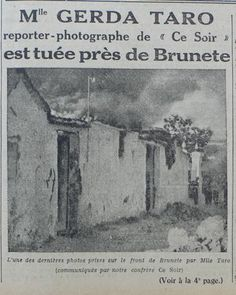 Gerda Taro-L'ŒUVRE-Killed Brunete-1937-Spanish civil War-La Guerra Civil Española- Slightly out of focus