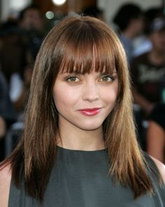 Straight Hairstyles With Bangs For Medium Hair