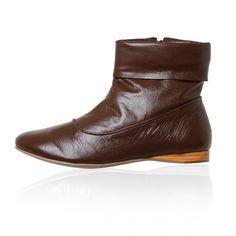 botinha, bota, marrom, café, confortável, flexivel
