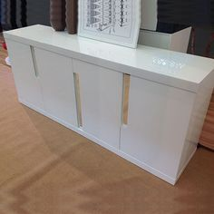 Modern Credenza Cabinet White High Gloss Lacquered Designer Buffet Console Table Officepope Lacquer