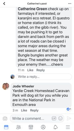 Dog sitter at a caravan park in wa