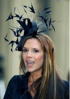 Victoria Beckham also wore a Philip Treacy hat to the Royal Wedding. Wedding Fascinators, Wedding Hats, Headpieces, Philip Treacy Hats, Fascinator Hats, Millinery Hats, Love Hat, Derby Hats, Hair Pieces