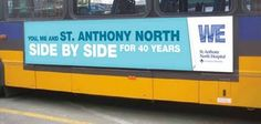 See how the transit and outdoor ads above support the hospital's broader messages for their 40-year anniversary campaign.