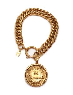 Chanel Bracelet Coin Metal Gold by material: metalcolor: goldarms around: vertical: width: box unit of length is cm, the unit of weight is gramappraisers Chanel Bracelet, Coin Bracelet, Bracelets, Vintage Earrings, Vintage Jewelry, Handbags Online, Chanel Handbags, Vintage Chanel, Personalized Items