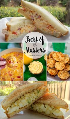 Best of The Masters - 5 recipes to make while watching The Masters - including the famous Egg Salad and Pimento Cheese