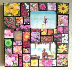 Flower Mosaic Photo frame available at www.etsy.com/shop/janetsmosaics