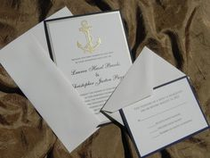 Handmade Nautical Wedding Invitation Suite by WhiteGownInvitations, $3.50