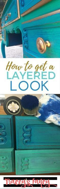 A layered paint furniture - the Gilded Peacock