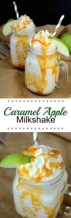 This Caramel Apple Milkshake is perfect for fall season and for fulfilling the need for total comfort food ... milkshakes are so very comforting!