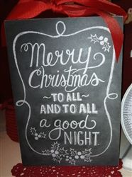 Chalkboard Vintage Style Christmas Sign Merry Christmas To All Goodnight $29.99