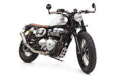 "Triumph Bonneville Street Tracker ""Pantera"" by Tamarit Motorcycles #motorcycles #streettracker #motos   caferacerpasion.com"