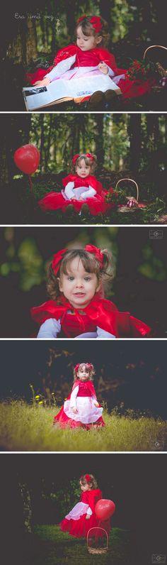Ensaio fotográfico Chapeuzinho Vermelho Book Infantil Chapeuzinho Vermelho Roupa Chapeuzinho Vermelho Fotografia Infantil em Curitiba