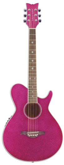 daisy rock pixie pink acoustic-electric guitar!