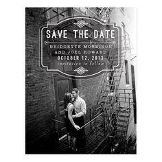 Jeune Amour Vintage Save the Date Postcard