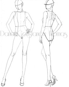 So I have yet to finish the how-to on drawing your personalized croquis. In the interim I thought I would post some rough croquis pairs. When sketching designs we often need to show the front and b… Fashion Illustration Template, Fashion Sketch Template, Fashion Figure Templates, Fashion Model Sketch, Fashion Design Template, Illustration Mode, Fashion Illustration Poses, Illustrations, Diy Design
