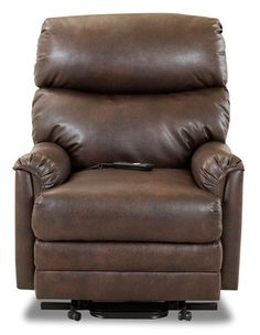 Manning Recliner -- Aptly named because it would probably go great in a homey man cave! Buttery soft brown leather, need we say more? || furniture.cort.com