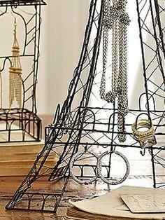 Eiffel Tower jewelry stand.