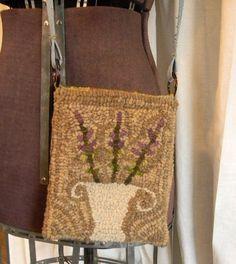 PATTERN Lavender Urn Hooked Purse Paper by notforgottenfarm
