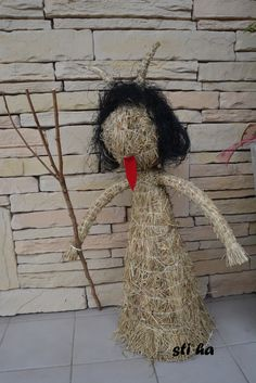 čert vytvořený ze sena Halloween, Grapevine Wreath, Grape Vines, Wreaths, Fall, Winter, Crafts, Home Decor, Devil