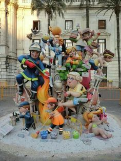 Infant falla from Valencia. Spain..