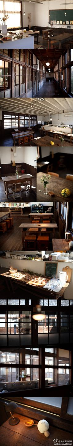 old japanese schoolhouse into cafe