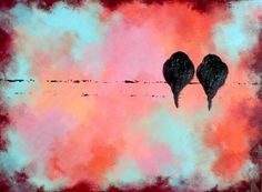love birds...love the colors