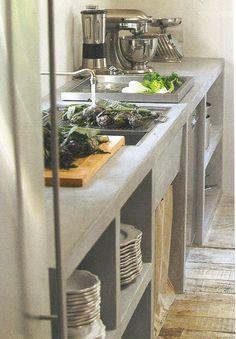 concrete sink.