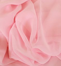 FABRIC #2 Chiffon Georgette Shell Pink Fabric. Perfect fabric to embrace Soft Pop's delicate feminine side.