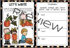 From Seed to Jack-o-lantern...Interactive and Paper Pencil! Poetry Anchor Chart, Anchor Charts, Pumpkin Life Cycle, Nouns And Adjectives, Word Work Centers, Types Of Sentences, Realistic Fiction, Vocabulary Cards, Parts Of Speech