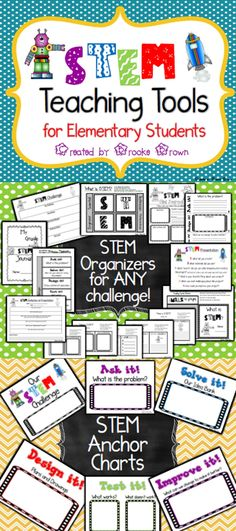 Brand New STEM Teaching Tools for Elementary Students! Organizers, Interactive Notebooking Tools, and Anchor Charts!