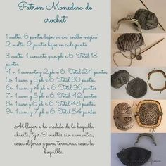 Monederos de crochet: Fotos de diseños y patrones (16/20)   Ellahoy