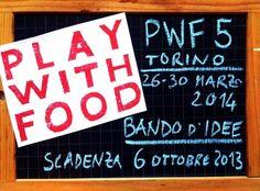 I Cuochivolanti sono alla ricerca di artisti per il Bando d'Idee della quinta edizione di PlayWithFood...scade il 6 ottobre...http://www.artesera.it/index.php/blog/article/playwithfood_5