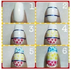Colorful Dotted Nail Art - DIY Tutorial