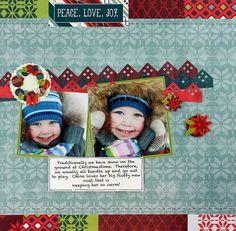 Peace. Love. Joy. Nordic Christmas Scrapbook Layout Project Idea
