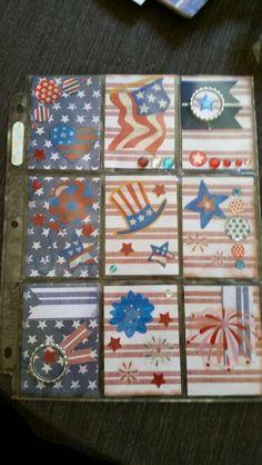 of July Pocket Letter Book Crafts, Paper Crafts, Pocket Pal, Letter I, Pocket Letters, Snail Mail, Atc, Fourth Of July, Envelope