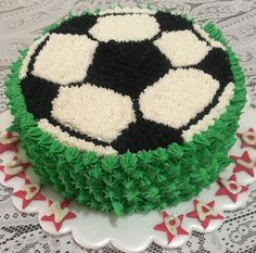 You are in the right place about Soccer Cake design Here we offer you the most beautiful pictures ab Cake Decorating Videos, Cake Decorating Techniques, Soccer Ball Cake, Soccer Cakes, Soccer Birthday Cakes, Rodjendanske Torte, Sport Cakes, Cakes For Boys, Buttercream Cake